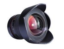 Camera lens. Closeup of camera lens, Isolated on white Royalty Free Stock Photos