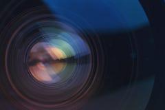 Camera lens detail Royalty Free Stock Photography