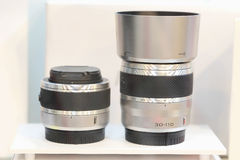 Camera lens dslr. On sale Royalty Free Stock Photography