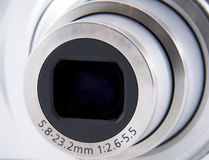 Camera lens front shot macro shuting Stock Images