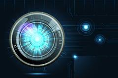 Camera Lens on Futuristic Background. Illustration of camera lens on futuristic background Stock Photography