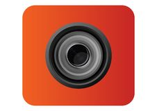 Camera Lens Icon for template. Is camera lens looks like with vector style can be used for template icon, or even logo Royalty Free Stock Image