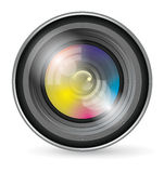 Camera Lens Icon Stock Images