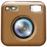 Camera Lens Icon. Vector camera lens app icon with blends and transparents. All layers well organised and easy to edit Royalty Free Stock Photos