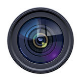 Camera lens. Illustration of colorful camera lens on white background. Simple gradients only, no gradient mesh vector illustration
