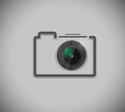 Camera and lens illustration design Royalty Free Stock Photos