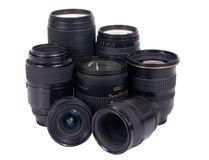 Camera Lens (isolated) Stock Images