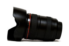 Camera lens isolated Stock Photo