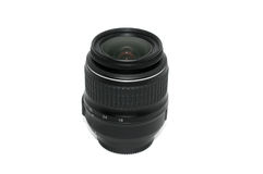 Camera lens on isolated background Royalty Free Stock Images