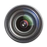 Camera lens isolated over white Royalty Free Stock Photo
