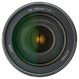 Camera lens isolated on white. Background stock image