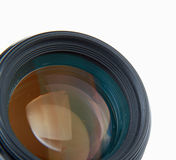 Camera lens, isolated on white background. Royalty Free Stock Photo