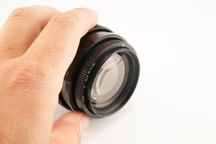 Camera lens isolated on white background Royalty Free Stock Photography