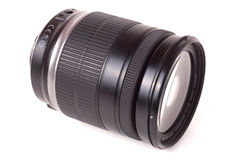 Camera lens isolated on a white background closeup Stock Photos
