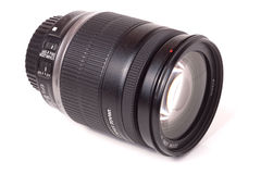 Camera lens isolated on a white background closeup Royalty Free Stock Photo