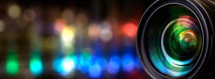 Camera lens. With lense reflections Royalty Free Stock Image