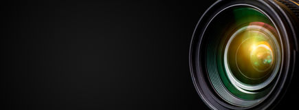Camera lens. With lense reflections royalty free stock photography