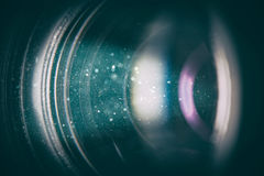 Camera lens with lense reflections. Royalty Free Stock Photo
