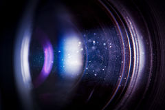 Camera lens with lense reflections. Royalty Free Stock Images