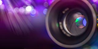 Camera lens with lense reflections, macro shot. Camera lens with lense reflections, macro shot, close-up Royalty Free Stock Photo