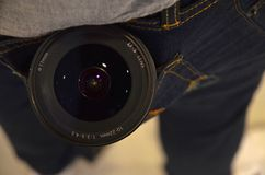 Camera lens. 10-22 mm royalty free stock images