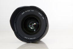 Camera lens. 24-70mm zoom camera lens isolated on white background Royalty Free Stock Images