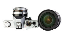 Camera with lens Royalty Free Stock Photo