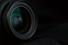 Camera lens optic. Dslr camera lens optic background Stock Photography