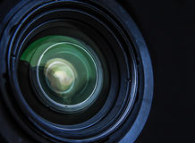 Camera lens optics. Close-up of camera lens optics Royalty Free Stock Photos