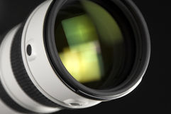 Camera lens in perspective Stock Images