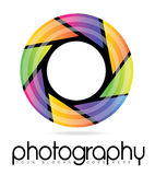 Camera Lens Photography Aperture Logo stock illustration