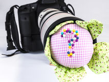 Camera, Lens, Pincushion Royalty Free Stock Photography