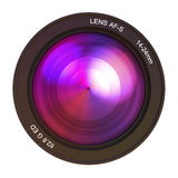Camera lens pink Royalty Free Stock Photography