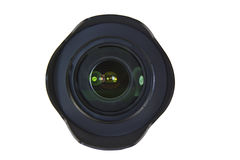 Camera Lens with Protective Hood Stock Images