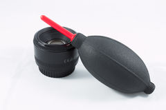 Camera Lens with Pump Stock Images