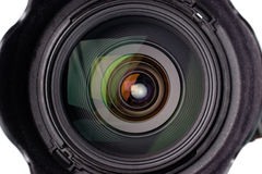 Camera lens with reflection Royalty Free Stock Photo