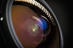 Camera lens reflection Royalty Free Stock Photo