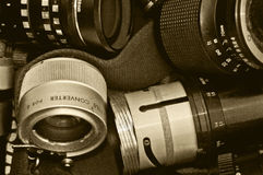Camera lenses retro  Royalty Free Stock Photography