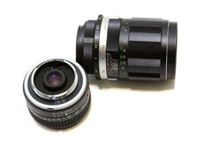 Camera lens set Royalty Free Stock Photography