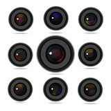 Camera Lens set Stock Photo