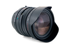 Camera Lens shot with infinite DOF. Camera Lens (31mm) isolated on white, photographed with infinite depth of field. Contains clipping path Royalty Free Stock Photos