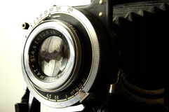 Camera Lens and Shutter. Antique camera lens Royalty Free Stock Photography