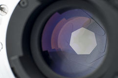 Camera Lens Shutter Closeup Royalty Free Stock Photography