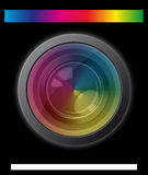Camera lens with spectrum effect. Illustration of camera lens with spectrum effect vector illustration