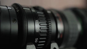 Camera Lens and the technology stock footage