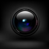 Camera lens. Vector Royalty Free Stock Photography
