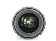 Camera lens on white background Stock Image