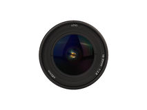 Camera lens on white background Royalty Free Stock Image