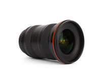 Camera lens on white background Royalty Free Stock Photos