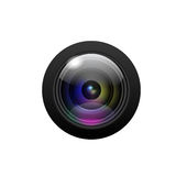 Camera lens on white background. Vector Royalty Free Stock Images